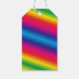 Etiqueta Para Presente Tag coloridos arco-íris do presente