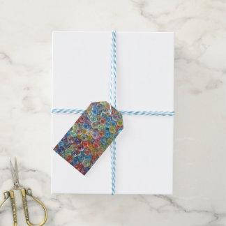 Etiqueta Para Presente Tag coloridos do presente da miçanga de vidro