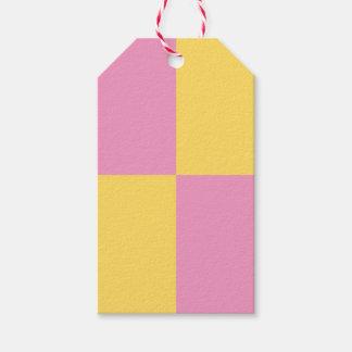 Etiqueta Para Presente Tag cor-de-rosa & amarelos retros do presente do