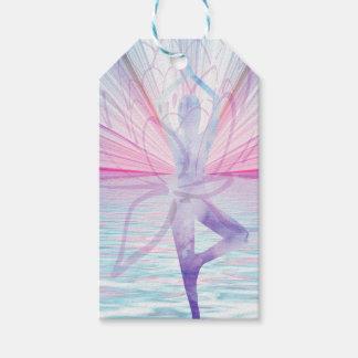 Etiqueta Para Presente Tag cor-de-rosa & azul bonito do presente da ioga