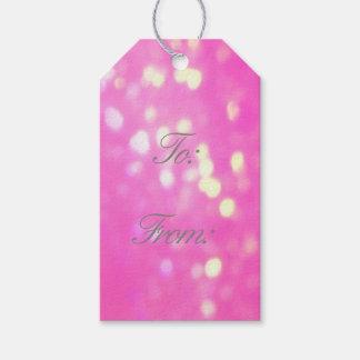 Etiqueta Para Presente Tag cor-de-rosa bonito do presente