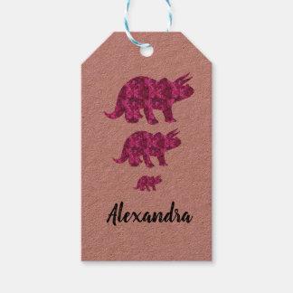 Etiqueta Para Presente Tag cor-de-rosa brilhante do presente do
