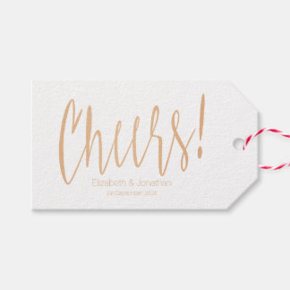 Etiqueta Para Presente Tag cor-de-rosa do favor do casamento da