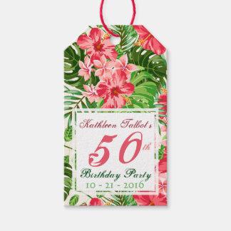 Etiqueta Para Presente Tag cor-de-rosa do presente da festa de