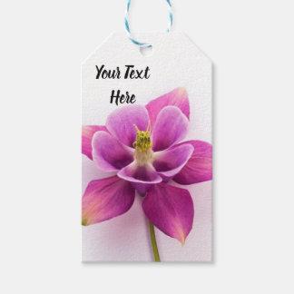 Etiqueta Para Presente Tag cor-de-rosa do presente da orquídea