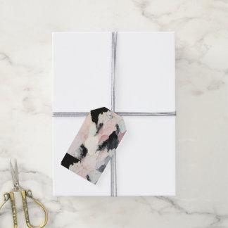 Etiqueta Para Presente Tag cor-de-rosa e pretos do presente