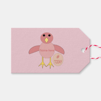 Etiqueta Para Presente Tag cor-de-rosa feitos sob encomenda do presente