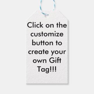 Etiqueta Para Presente Tag customizável do presente