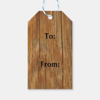 Etiqueta Para Presente Tag de madeira do presente da grão