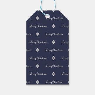 Etiqueta Para Presente Tag de prata & azul do presente do Feliz Natal