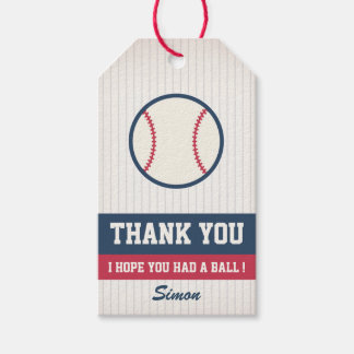 Etiqueta Para Presente Tag do favor do basebol