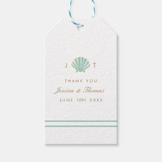 Etiqueta Para Presente Tag do favor do casamento do Aqua da aguarela de