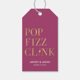 Etiqueta Para Presente Tag do favor do Clink do Fizz do pop