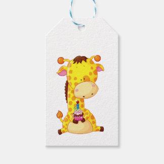 Etiqueta Para Presente Tag do presente - aniversário do girafa