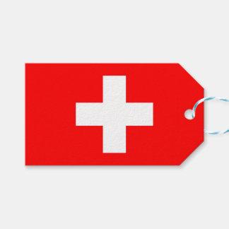 Etiqueta Para Presente Tag do presente com a bandeira da suiça