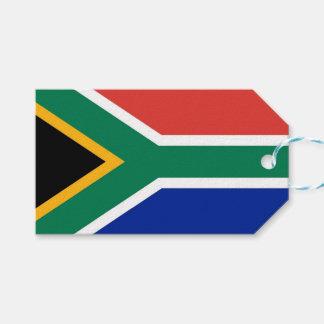 Etiqueta Para Presente Tag do presente com a bandeira de África do Sul