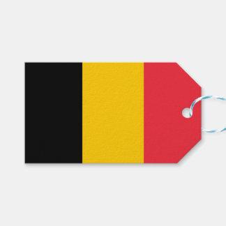 Etiqueta Para Presente Tag do presente com a bandeira de Bélgica