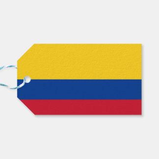 Etiqueta Para Presente Tag do presente com a bandeira de Colômbia