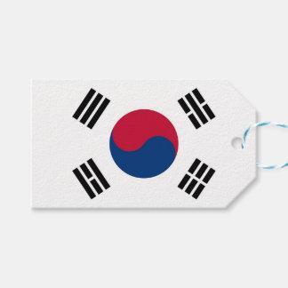Etiqueta Para Presente Tag do presente com a bandeira de Coreia do Sul