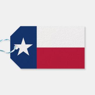 Etiqueta Para Presente Tag do presente com a bandeira do estado de Texas,