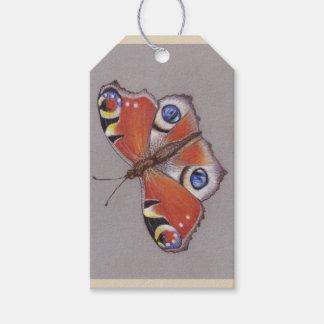 Etiqueta Para Presente Tag do presente com design da borboleta de pavão
