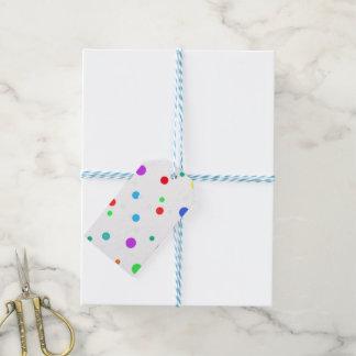 Etiqueta Para Presente Tag do presente com os pontos de O dos lotes