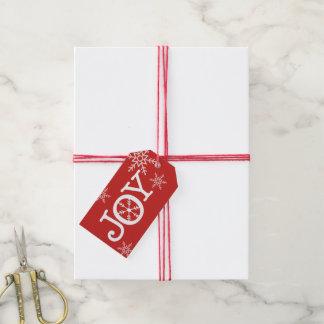 Etiqueta Para Presente Tag do presente da ALEGRIA do Natal