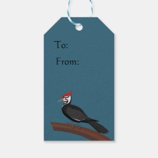 Etiqueta Para Presente Tag do presente da arte do vetor do pica-pau de
