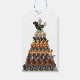 Etiqueta Para Presente Tag do presente da árvore de Natal da galinha