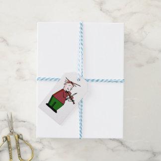 Etiqueta Para Presente Tag do presente da cara do violino do Natal