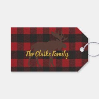Etiqueta Para Presente Tag do presente da festa natalícia da xadrez dos