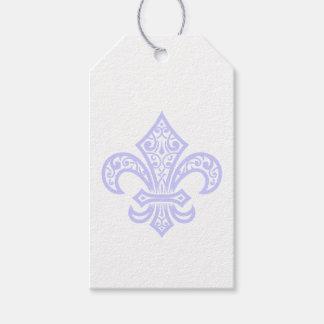 Etiqueta Para Presente Tag do presente da flor de lis da lavanda