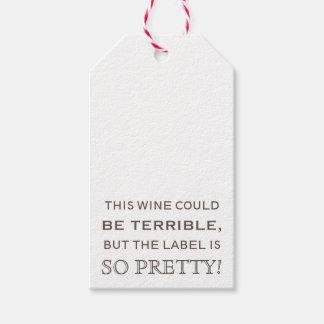 Etiqueta Para Presente Tag do presente da garrafa de vinho