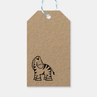 Etiqueta Para Presente Tag do presente da zebra