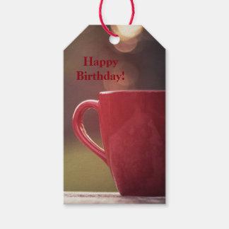 Etiqueta Para Presente Tag do presente de aniversário dos amantes do café