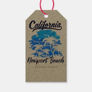 Etiqueta Para Presente Tag do presente de Califórnia da praia de Newport