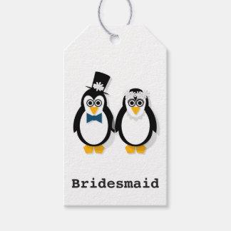 Etiqueta Para Presente Tag do presente de casamento do pinguim