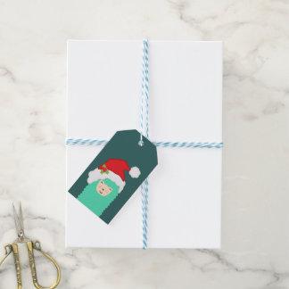 Etiqueta Para Presente Tag do presente de Emoji do Natal do lama