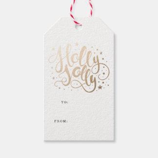 Etiqueta Para Presente Tag do presente de época natalícia do azevinho