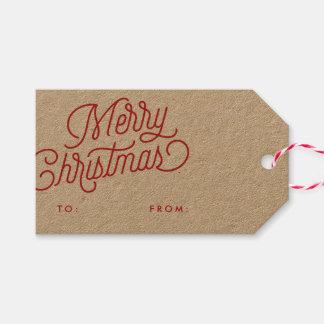 Etiqueta Para Presente Tag do presente de época natalícia do roteiro do
