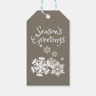 Etiqueta Para Presente Tag do presente de época natalícia dos flocos de