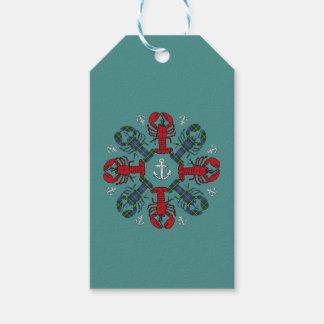 Etiqueta Para Presente Tag do presente de N.S. Natal da âncora do floco