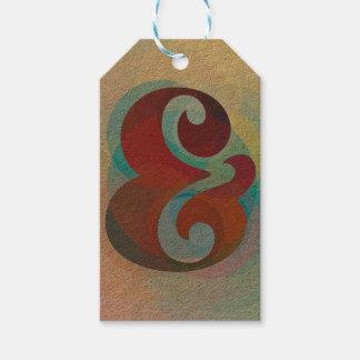 Etiqueta Para Presente Tag do presente do arco-íris do Ampersand