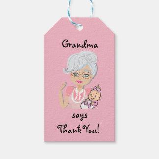 Etiqueta Para Presente Tag do presente do chá de fraldas da avó