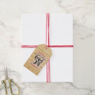 Etiqueta Para Presente Tag do presente do conforto & da alegria
