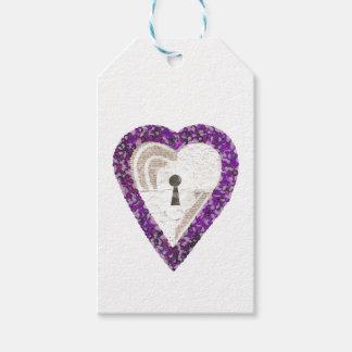 Etiqueta Para Presente Tag do presente do coração do cacifo