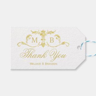 Etiqueta Para Presente Tag do presente do favor do casamento do ouro que