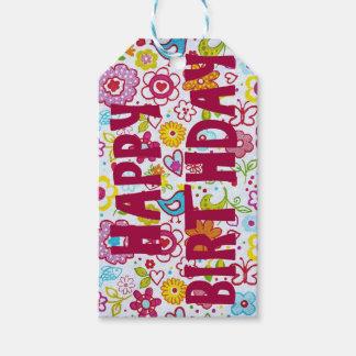 Etiqueta Para Presente Tag do presente do feliz aniversario