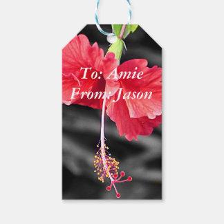 Etiqueta Para Presente Tag do presente do hibiscus