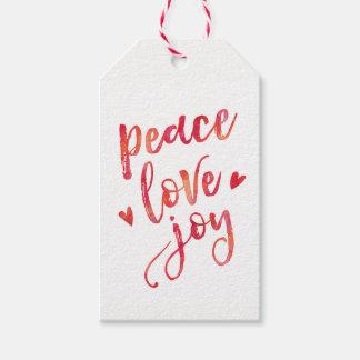 Etiqueta Para Presente Tag do presente do Natal da aguarela da alegria do